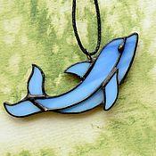 """Подвеска ручной работы. Ярмарка Мастеров - ручная работа Кулон """"Дельфин"""". Handmade."""