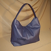 Сумки и аксессуары handmade. Livemaster - original item Bag blue, soft, women`s.To buy a leather bag.. Handmade.