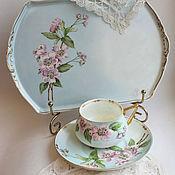 handmade. Livemaster - original item Painted porcelain. Set - solitaire