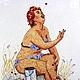 Хильда:малиновый рай, набор для вышивания крестом, размер 20/25см. Дизайн Антоновой В. по мотивам рисунка Duane Bryers.