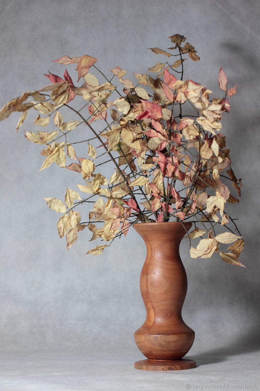 Интерьерная ваза для икебаны. Дерево, Вазы, Курск,  Фото №1