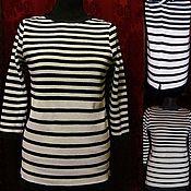 Одежда handmade. Livemaster - original item 100% linen.Striped jumper. Handmade.