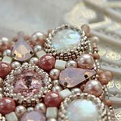 """Украшения handmade. Livemaster - original item Brooch """"Zephire`` with pearls and Swarovski elements. Handmade."""