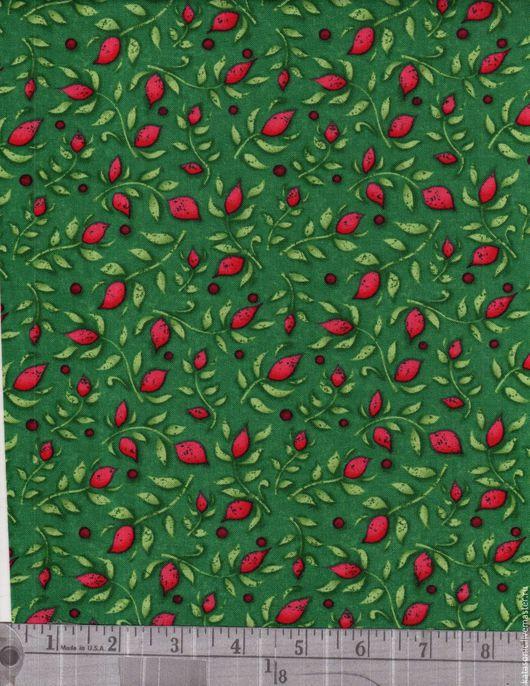 Шитье ручной работы. Ярмарка Мастеров - ручная работа. Купить 1175 Американская ткань. Handmade. Тёмно-зелёный, ткань с рисунком