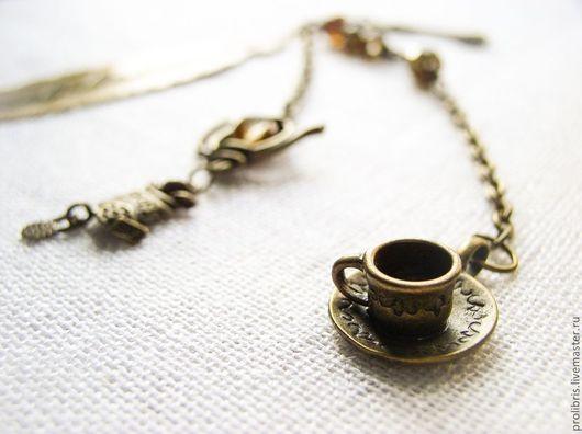 """Закладки для книг ручной работы. Ярмарка Мастеров - ручная работа. Купить Закладка """"Безумное чаепитие"""". Handmade. Алиса в стране чудес"""