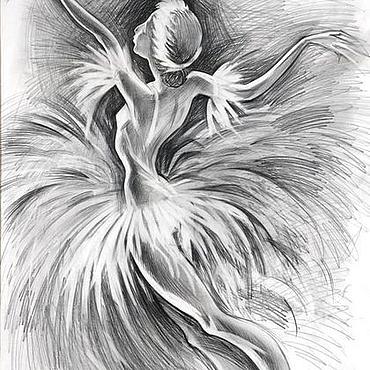 Картины и панно ручной работы. Ярмарка Мастеров - ручная работа Одетта (Белый лебедь). Handmade.