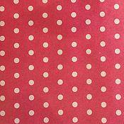 Материалы для творчества ручной работы. Ярмарка Мастеров - ручная работа Бумага крафт красная в горошек. Handmade.