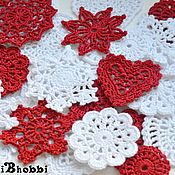 Подарки к праздникам handmade. Livemaster - original item A set of Christmas knitted tree ornament. Handmade.