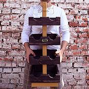 Для дома и интерьера ручной работы. Ярмарка Мастеров - ручная работа Подставка для бутылок Color Lines Tower. Handmade.