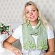 """Шарфы и шарфики ручной работы. Ярмарка Мастеров - ручная работа. Купить Ажурный вязаный шарф """"Листопад"""" зеленый. Handmade. Зеленый"""