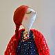 Коллекционные куклы ручной работы. Заказать кукла в сарафане. 'Настроение в горошек' (ViktoriaSP). Ярмарка Мастеров. Кукла в народном костюме