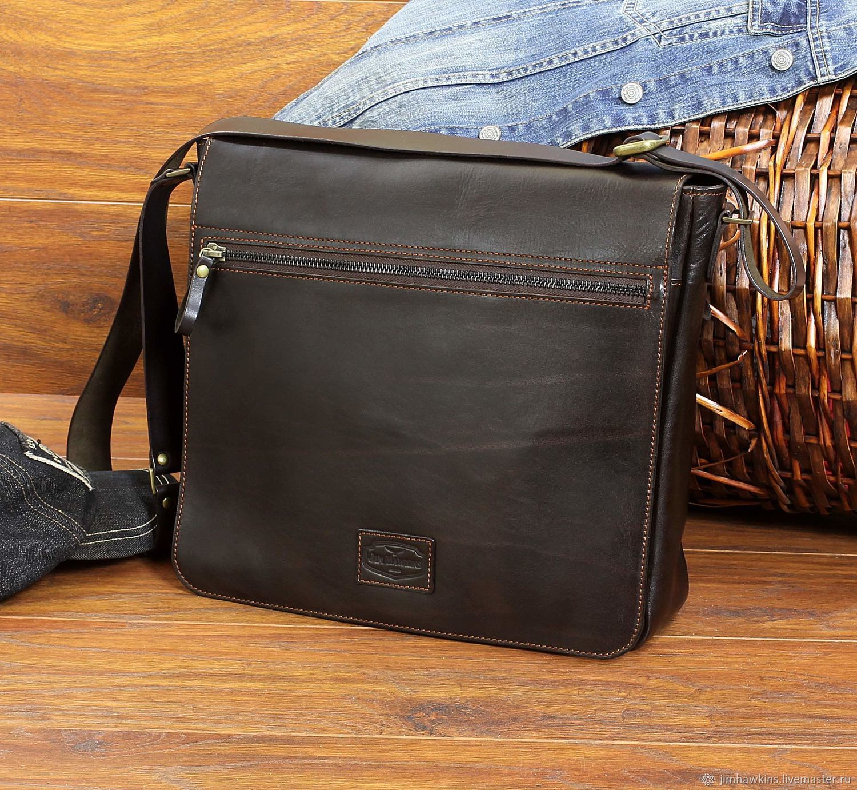 "Мужская сумка ""Nelson"" (Нельсон) Dark Brown, Мужская сумка, Пенза,  Фото №1"