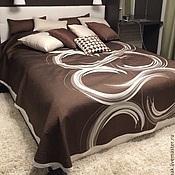 """Для дома и интерьера ручной работы. Ярмарка Мастеров - ручная работа Последнее! Покрывало 2,58x2,75 двустороннее на кровать """"круги"""". Handmade."""