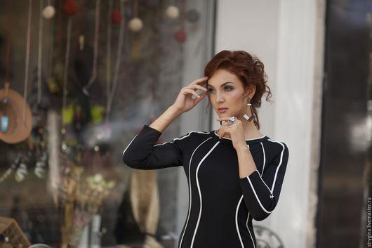 Платья ручной работы. Ярмарка Мастеров - ручная работа. Купить Платье Esilita. Handmade. Черный, осенняя мода 2015