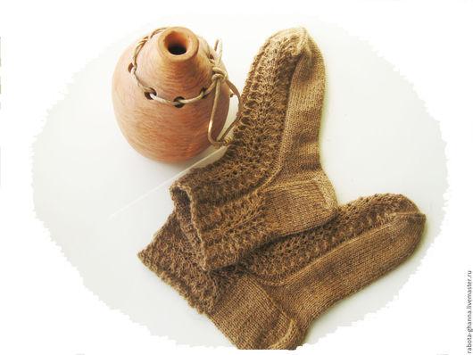 """Носки, Чулки ручной работы. Ярмарка Мастеров - ручная работа. Купить Носки вязаные """"Караван"""" из верблюжьей шерсти. Handmade. Коричневый"""