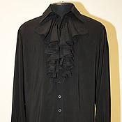Одежда handmade. Livemaster - original item Cotton shirt with frill. Handmade.