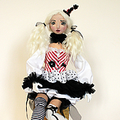 Куклы и игрушки handmade. Livemaster - original item Clown Iolanta, author`s textile doll, jointed, circus, OOAK. Handmade.