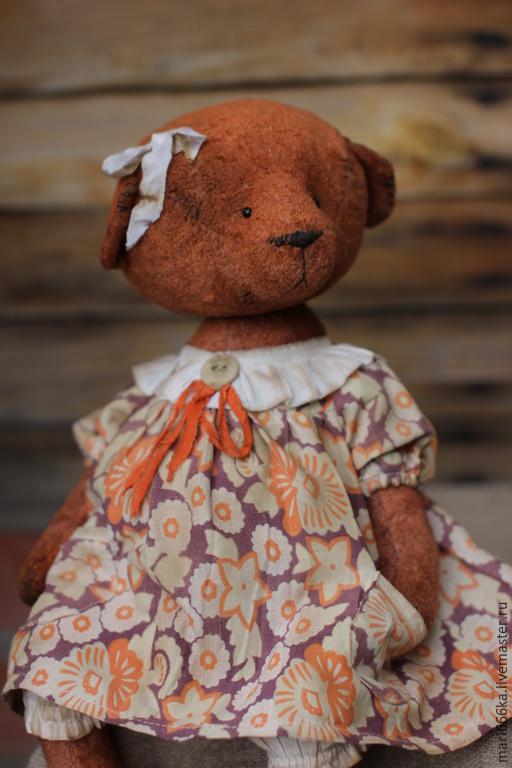 Мишки Тедди ручной работы. Ярмарка Мастеров - ручная работа. Купить Верочка.. Handmade. Рыжий, плюш