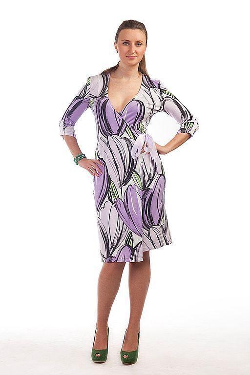 Платья ручной работы. Ярмарка Мастеров - ручная работа. Купить Трикотажное платье  034. Handmade. Трикотажное платье