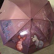 """Зонты ручной работы. Ярмарка Мастеров - ручная работа Зонт с росписью """"Настоящее, прошлое, будущее"""". Handmade."""