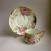 handmade. Livemaster - original item Painted porcelain. A couple of tea