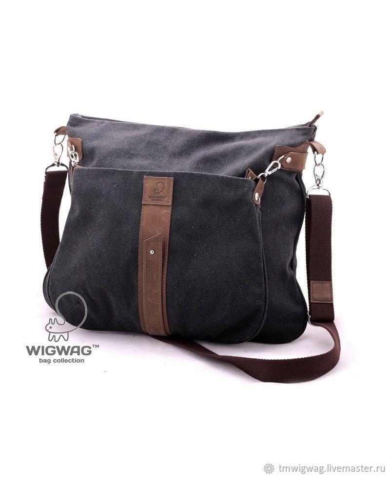 Две небольших сумочки из канваса и натуральной кожи, Классическая сумка, Симферополь,  Фото №1