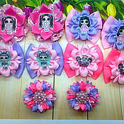 """Резинка для волос ручной работы. Ярмарка Мастеров - ручная работа Резиночки """"Куколки Лол на цветке"""" в ассортименте. Handmade."""