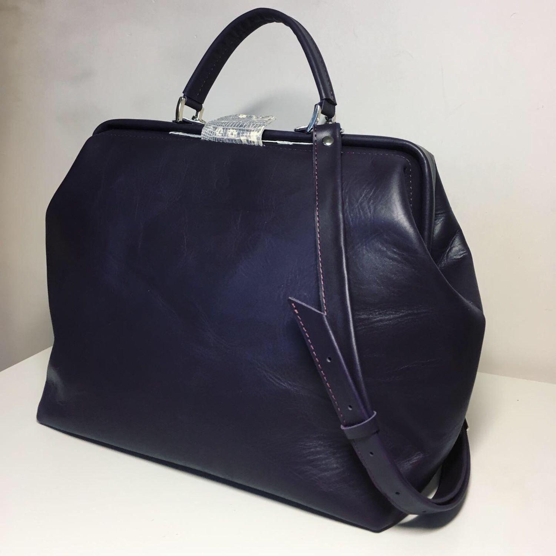 92399665c95a Женские сумки ручной работы. Ярмарка Мастеров - ручная работа. Купить  Саквояж женский сиреневый.