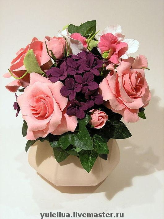 """Цветы ручной работы. Ярмарка Мастеров - ручная работа. Купить Композиция """"Весна"""". Handmade. Подарок маме на 8 марта, цветы"""