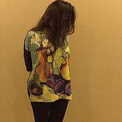 """Одежда ручной работы. Ярмарка Мастеров - ручная работа Блузка с принтом """"Носим картину"""". Handmade."""