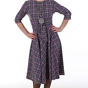 """Одежда ручной работы. Ярмарка Мастеров - ручная работа Платье """"Lilac  plaid"""". Handmade."""