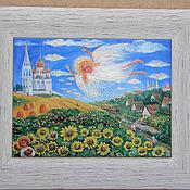 """Картины и панно ручной работы. Ярмарка Мастеров - ручная работа """"Пасхальный ангел"""". Handmade."""