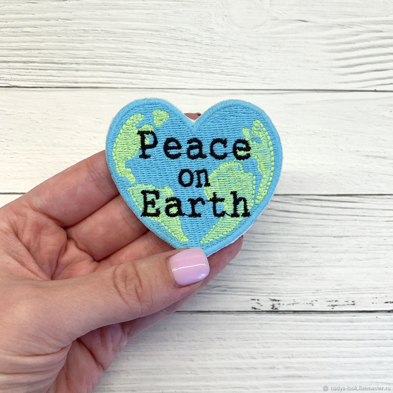 """Термоклеевая нашивка """"Peace on Earth"""", Нашивки, Омск,  Фото №1"""