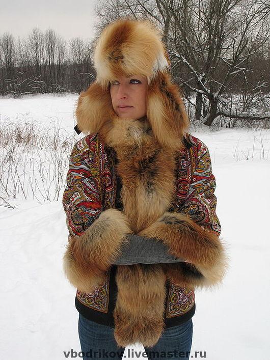 """Верхняя одежда ручной работы. Ярмарка Мастеров - ручная работа. Купить Курточка """" Русские узоры """" - 3. Handmade."""