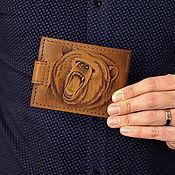 """Сувениры и подарки ручной работы. Ярмарка Мастеров - ручная работа Портмоне """"Оскал медведя"""". Handmade."""