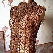 """Одежда ручной работы. Ярмарка Мастеров - ручная работа Джемпер из натуральной замши """"Тайна замшевого соблазна"""". Handmade."""
