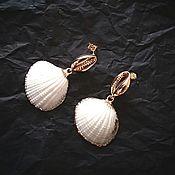 Украшения manualidades. Livemaster - hecho a mano Earrings with shell pendants. Handmade.