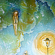 Город ручной работы. Панно В саду. Елена Моф (elenamof). Интернет-магазин Ярмарка Мастеров. Домик, интерьер, подарок