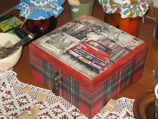 """Кухня ручной работы. Ярмарка Мастеров - ручная работа. Купить """"Кубинские напевы"""" короб. Handmade. Бордовый, куба"""
