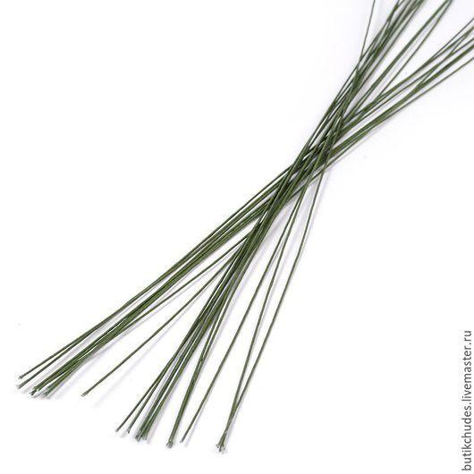 Проволока флористическая цв. зеленый (20 шт.) FLEUR