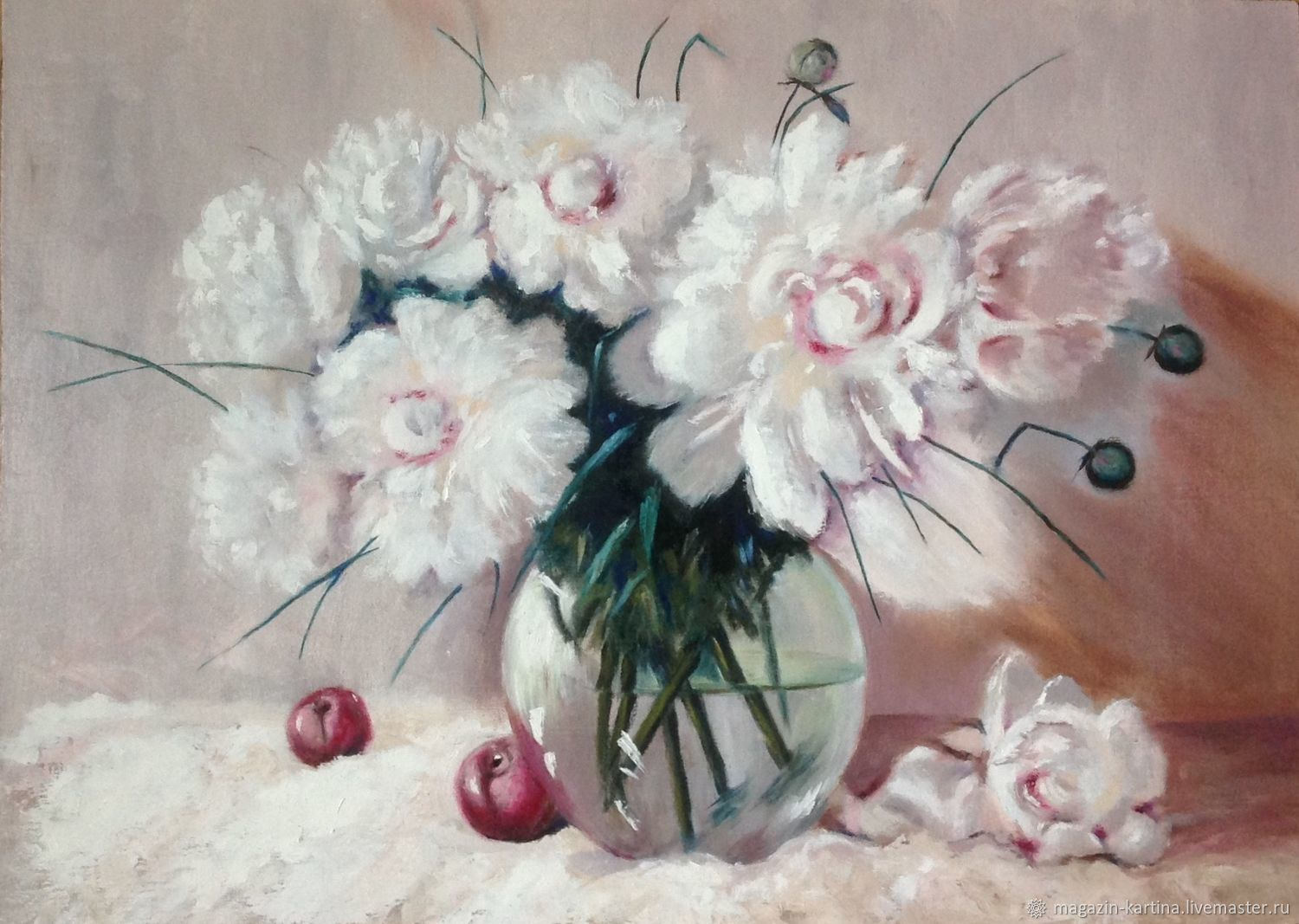 Oil Painting The Poetry Of White Flowers Shop Online On Livemaster