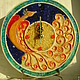 Часы для дома ручной работы. Ярмарка Мастеров - ручная работа. Купить Часы Жар-птица Керамика. Handmade. Солнце, оранжевый