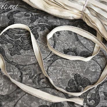 Материалы для творчества ручной работы. Ярмарка Мастеров - ручная работа 3022L льняной кант серо-белый. Handmade.