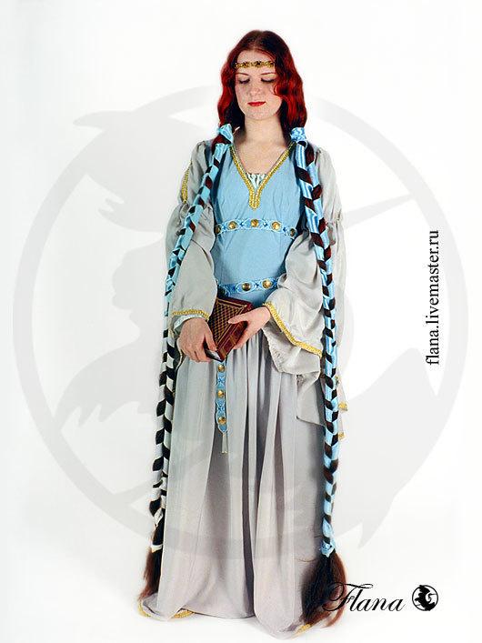 Блио `Элеонора` (12 век, Западная Европа), реконструкция и стилизация. Индивидуальный пошив, Флана