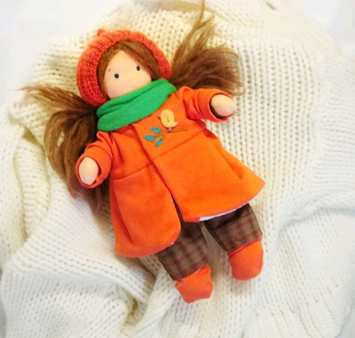 Вальдорфская кукла с гардеробом, Вальдорфские куклы и звери, Пермь,  Фото №1
