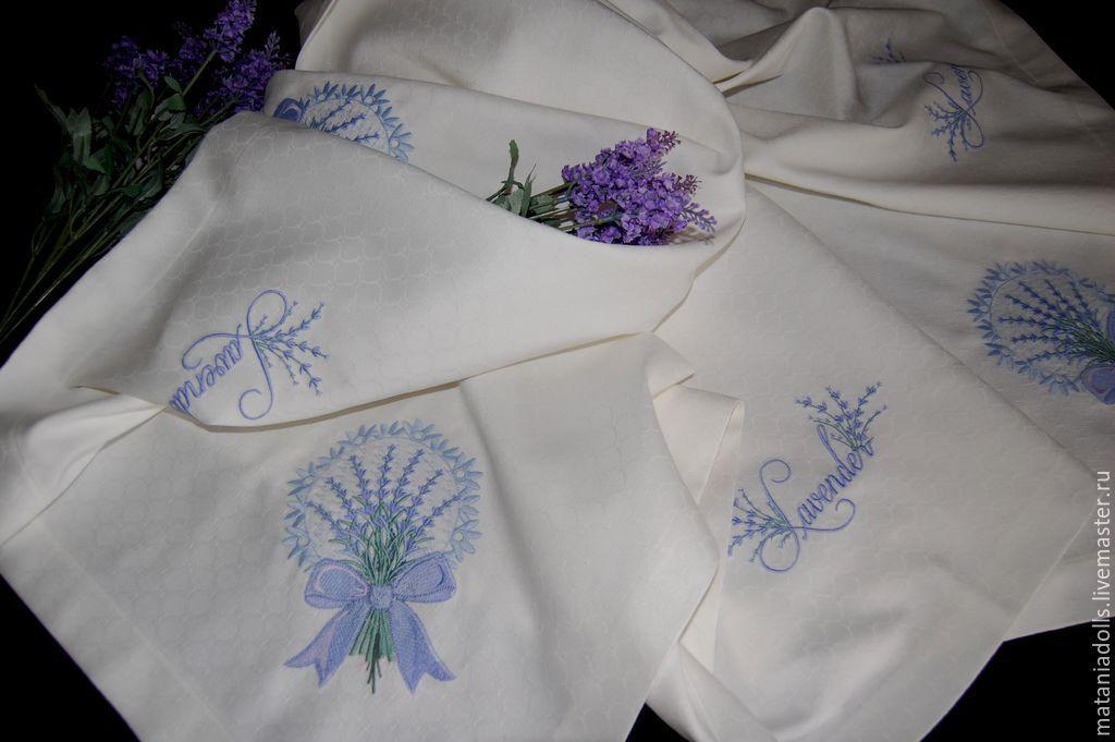 """Текстиль, ковры ручной работы. Ярмарка Мастеров - ручная работа. Купить Скатерть """"Лаванда"""". Handmade. Для дома, вышитая скатерть"""