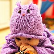 Одежда handmade. Livemaster - original item Children`s knitted set of cardigan, hat scarf Doll. Handmade.