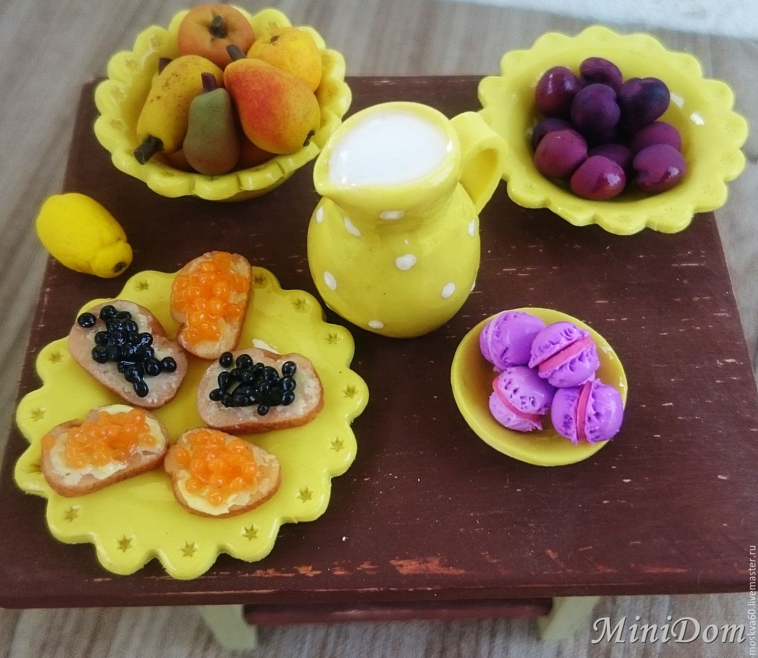 Dollhouse miniature tableware for dolls food for dolls doll accessories handmade Dollhouse Doll house dolls House Miniature for doll Accessories for dolls