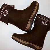 """Обувь ручной работы. Ярмарка Мастеров - ручная работа Сапоги """"Корица"""". Handmade."""