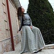 """Одежда handmade. Livemaster - original item Теплая юбка """"Diva"""" с кружевом, в пол,шерсть. Handmade."""